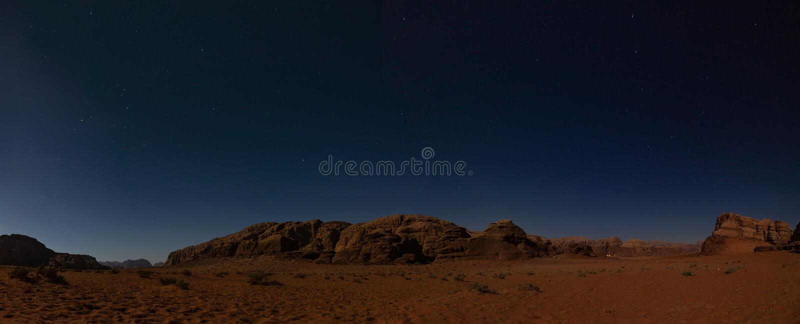 Wadi Rum Night II imagen de archivo