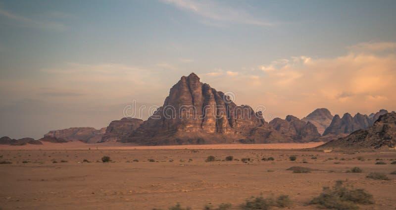 Wadi Rum - October 01, 2018: Mountains of the Wadi Rum desert, Jordan stock images