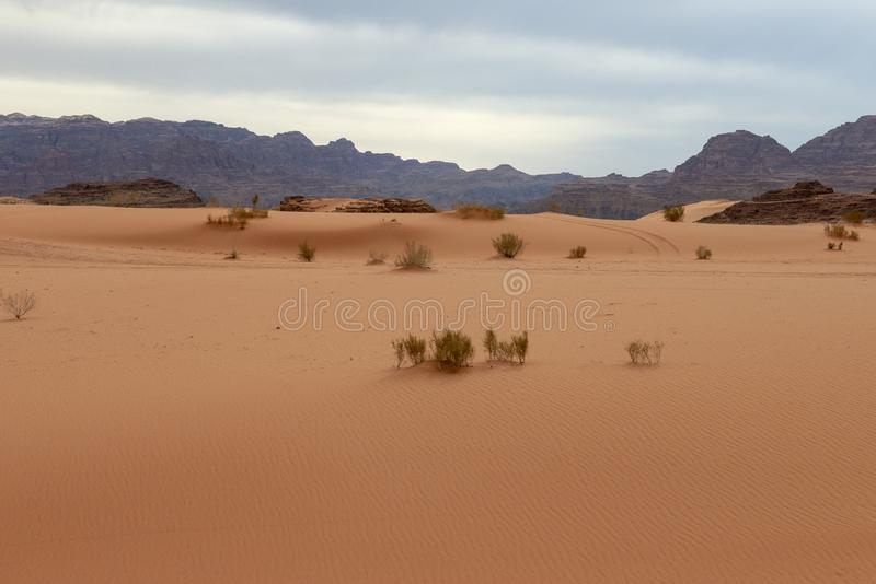 Wadi Run Desert, Jordan Travel, Aard royalty-vrije stock fotografie