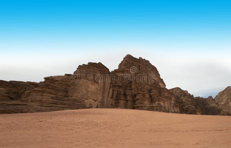 Wadi Run Desert, Jordan Travel, Aard royalty-vrije stock afbeelding