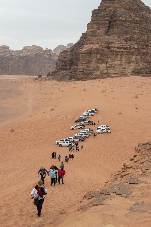 Wadi Run Desert, Jordan Travel, Aard royalty-vrije stock foto's