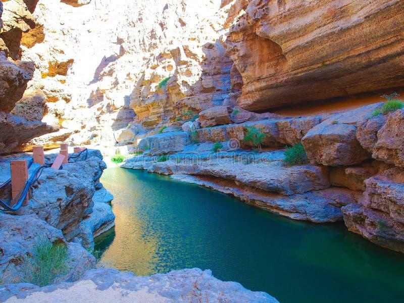Wadi Shab photos libres de droits