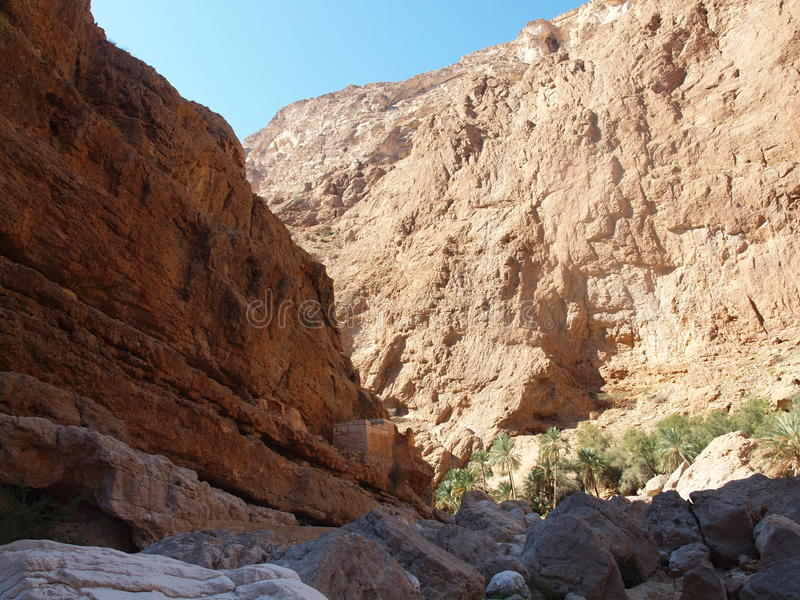 Wadi Shab, Oman zdjęcie royalty free