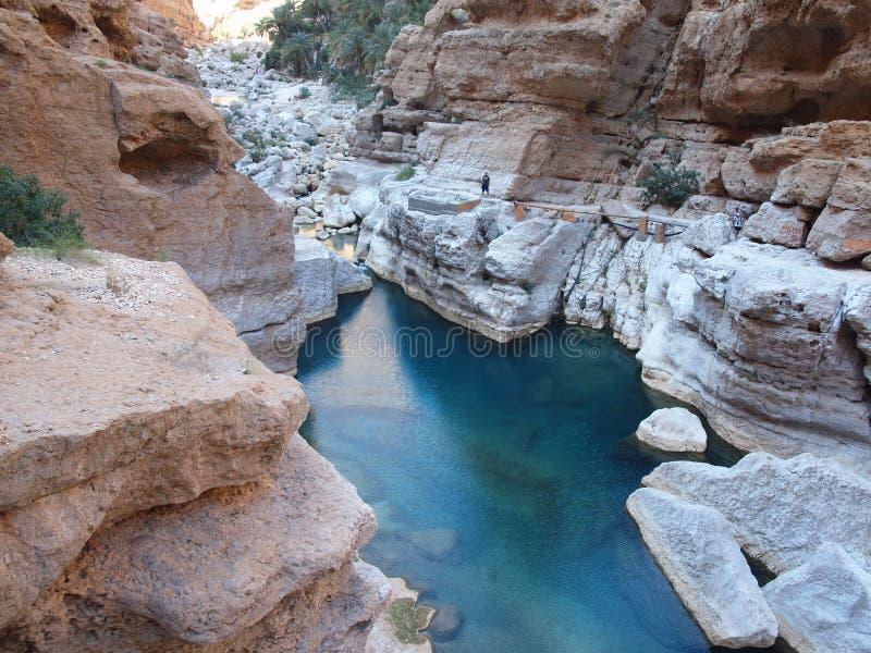Wadi Shab Oman royaltyfri fotografi