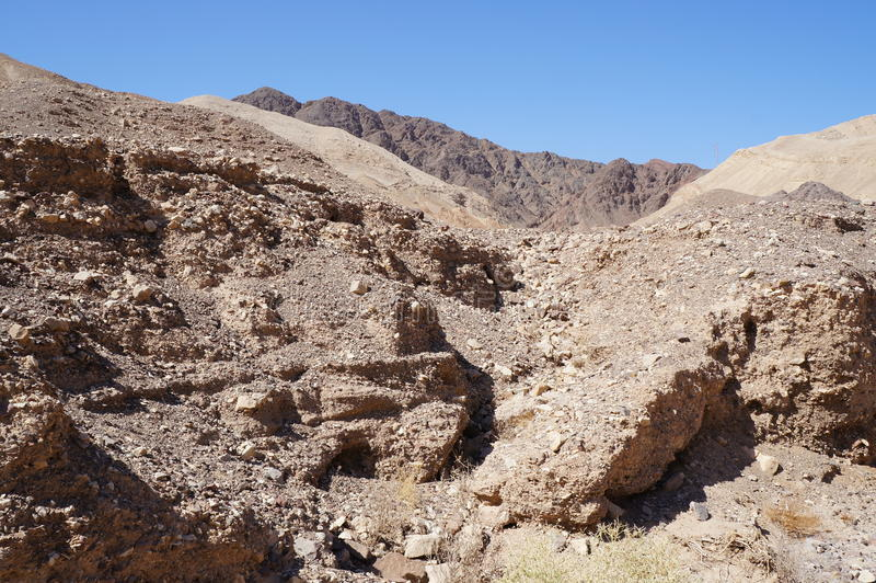 Wadi Shahamon near Eilat. Israel stock image