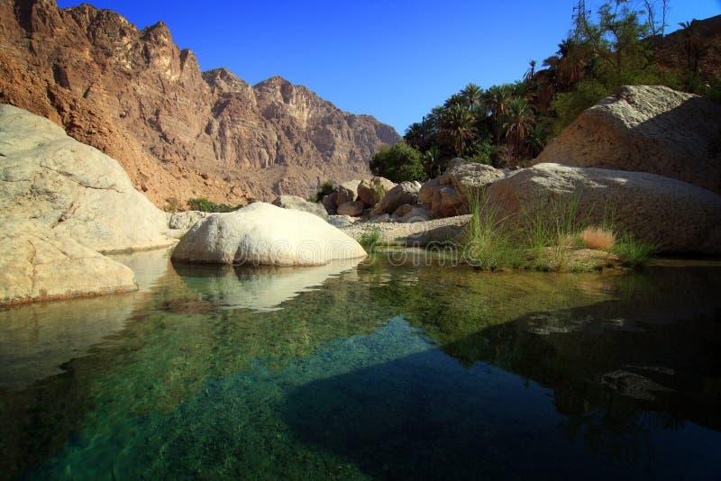 wadi tiwi του Ομάν στοκ εικόνες
