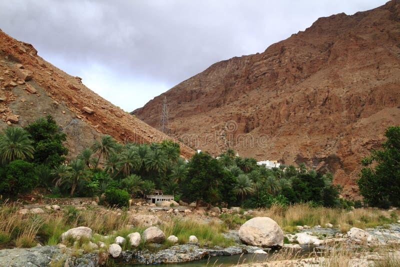 Wadi Tiwi royalty-vrije stock afbeeldingen