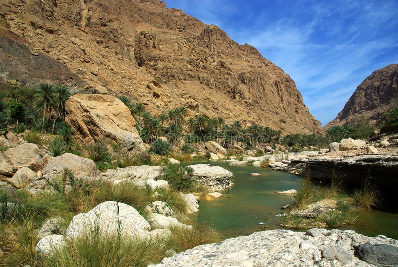 Wadi Tiwi, Oman stockfoto