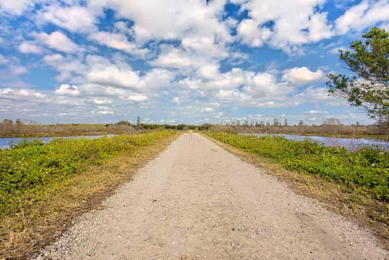 Wading Bird Way Trail At Circle B Bar Reserve In Lakeland. Florida royalty free stock photo