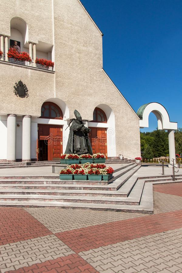 Free WADOWICE, POLAND, August 5, 2017: Wadowice Is The Place Of Birth Of Pope John Paul II. Church Of St. Peter The Apostle. Statue Of Royalty Free Stock Image - 97613696