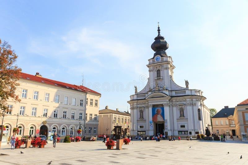 Wadowice Polen - September 07, 2014 royaltyfri foto