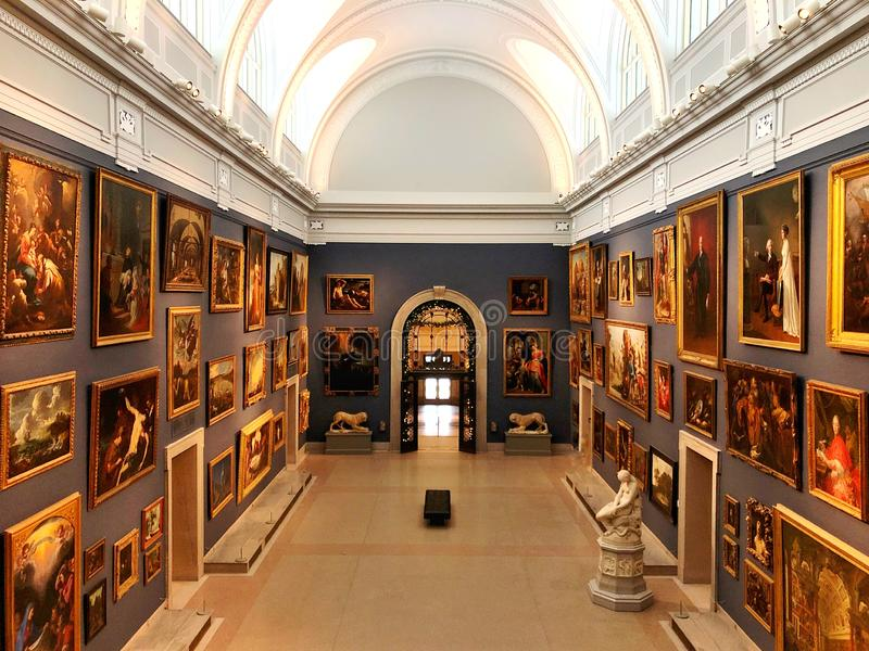 Wadsworth-Atheneum-Kunstmuseumausstellung stockbilder