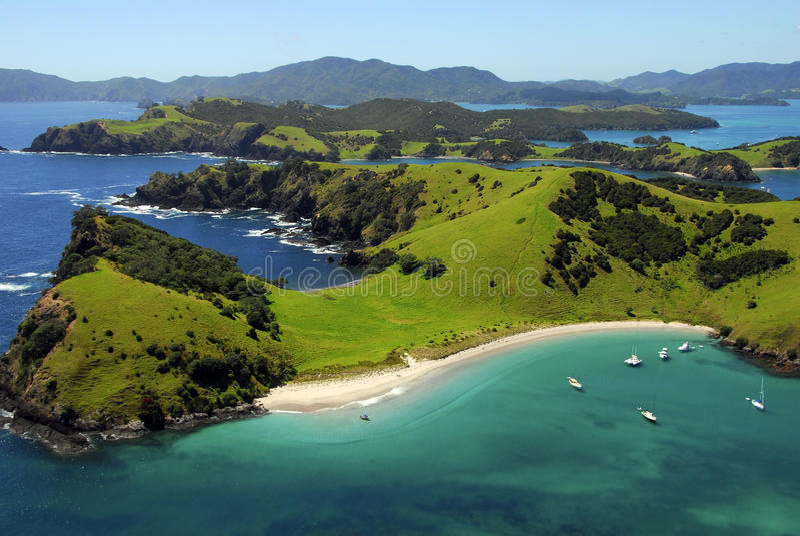 Waewaetorea Passage - Bay of Islands, New Zealand stock photos