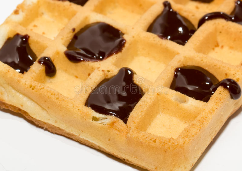 Wafer With Chocolate Stock Images