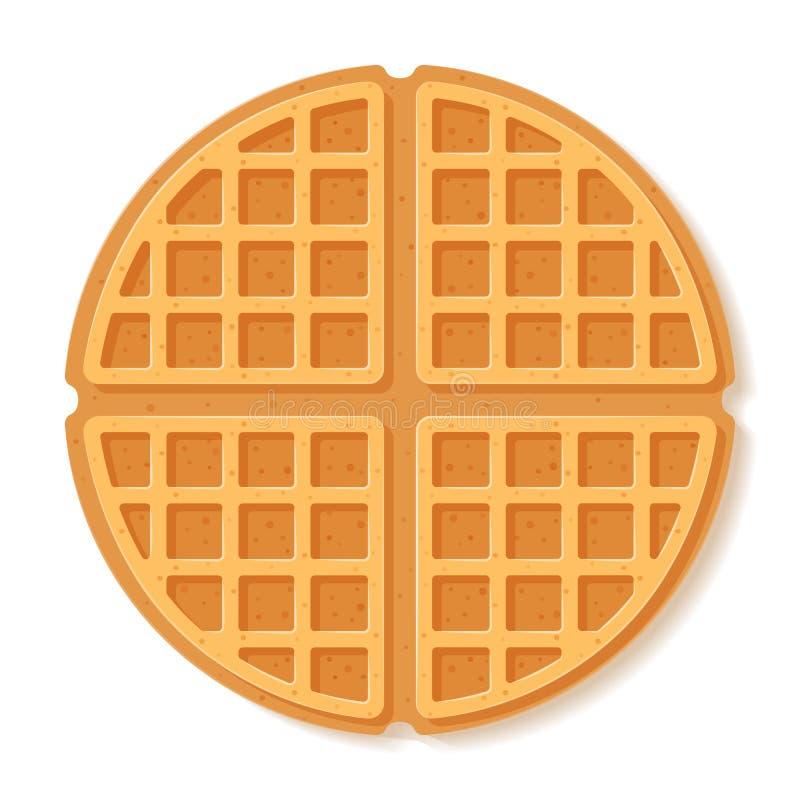 Round waffle. Soft Belgian waffles. Realistic style. Dessert pattern. Vector illustration vector illustration