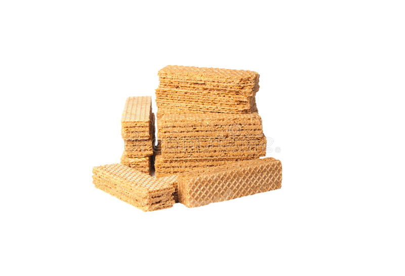 Wafers chocolate isolated stock photos