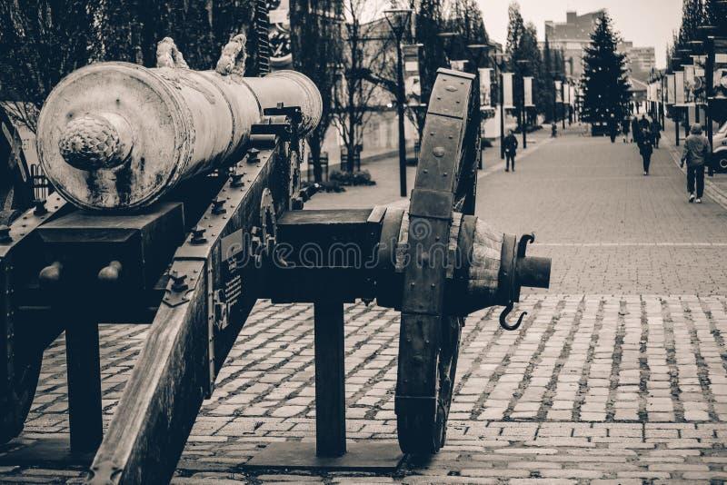 Waffe in der Geschichte stockbild