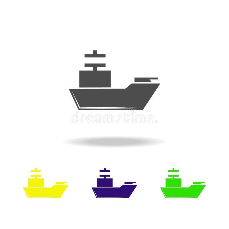 Waffe, Kreuzer färbte Ikonen Element der Militärillustration Zeichen und Symbole können für Netz, Logo, mobiler App, UI, UX verwe vektor abbildung