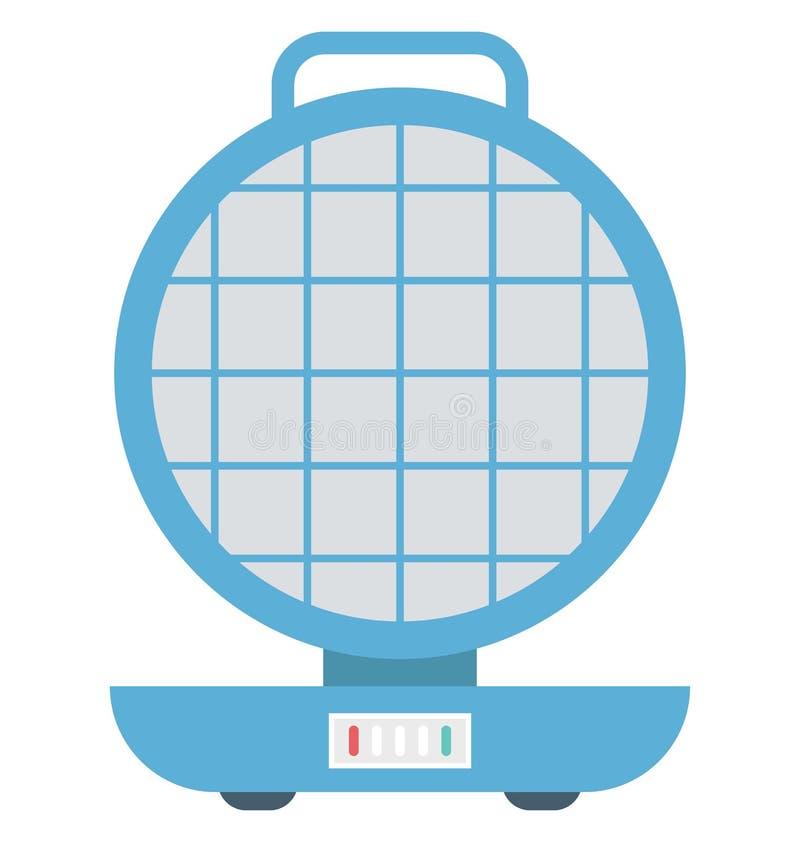 Waffel-Hersteller lokalisierte Vektor-Ikone editable stock abbildung