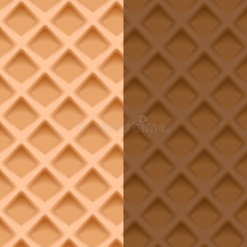 Waffel seamlwss Muster Die Kunst des süßen köstlichen Bäckereithemas schaut lecker vektor abbildung