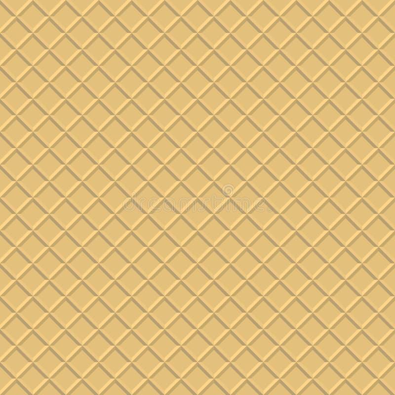 Waffelhintergrund Nahtloses Muster der Oblate vektor abbildung