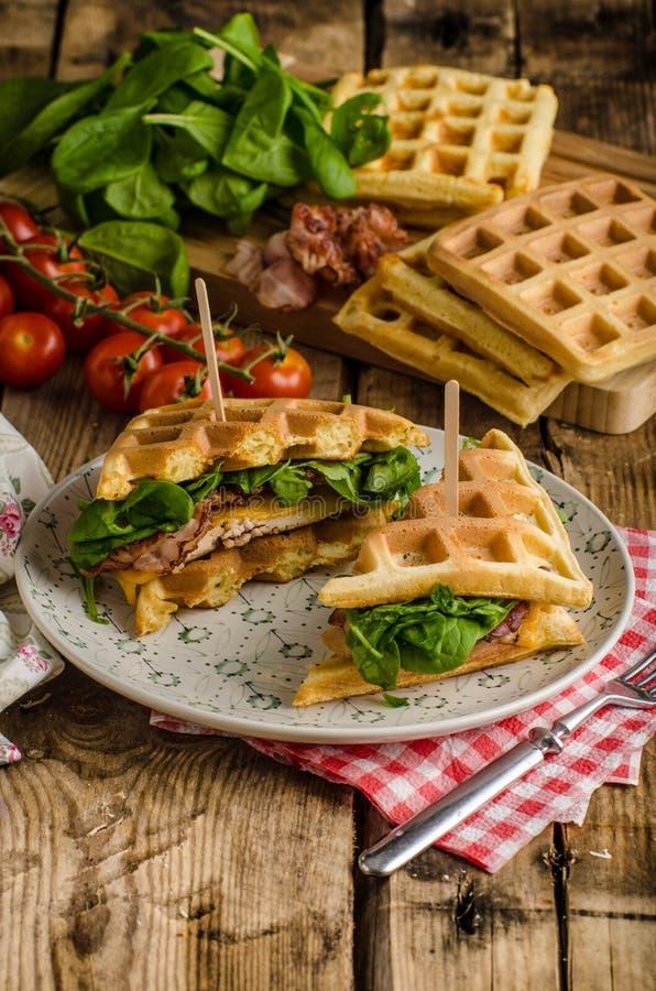 Waffelsandwich stockfotos