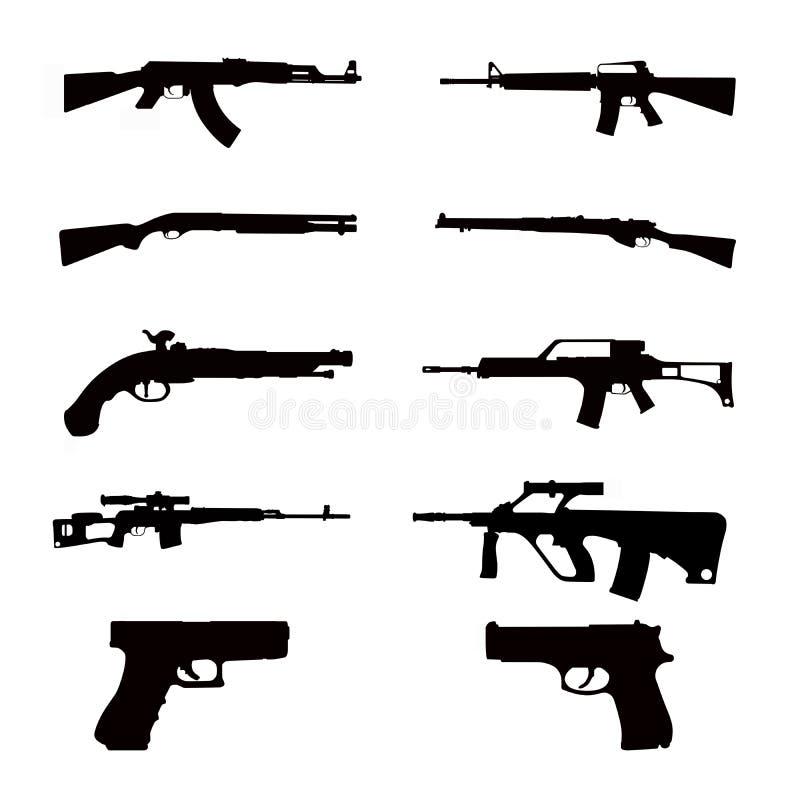 Waffenansammlungen lizenzfreie stockfotografie