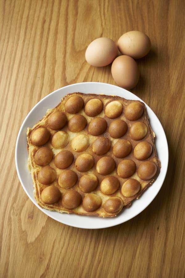 Waffle яичка стоковая фотография
