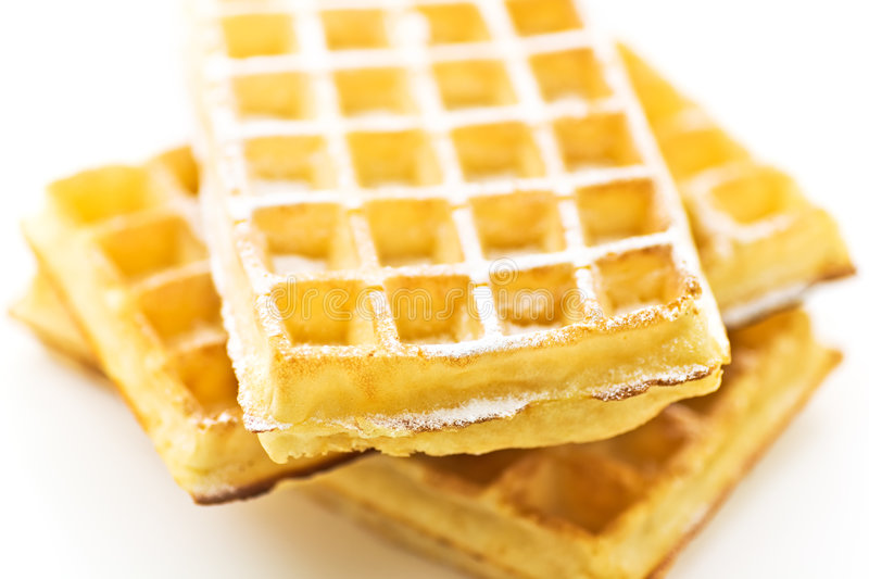 Download Waffle stock photo. Image of breakfast, sweet, crisp, sugared - 2932882