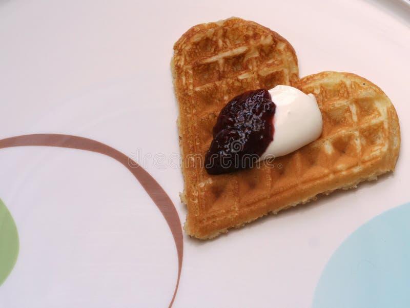 Waffle. With jam royalty free stock image
