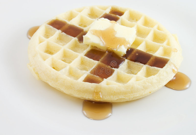 Download Waffle stock photo. Image of meal, plate, waffle, golden - 7741294