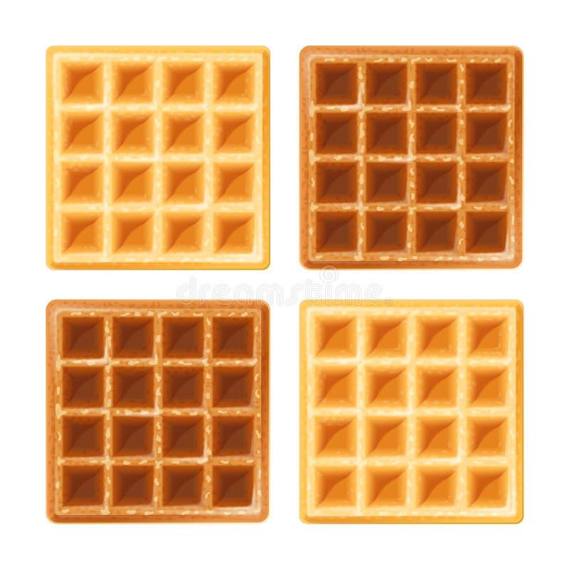 Waffle belga ilustração royalty free