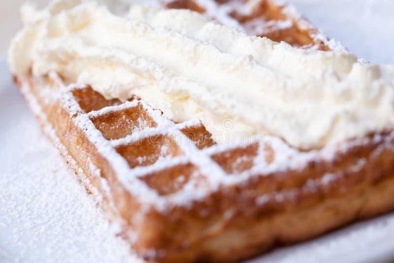 Waffle belga foto de stock