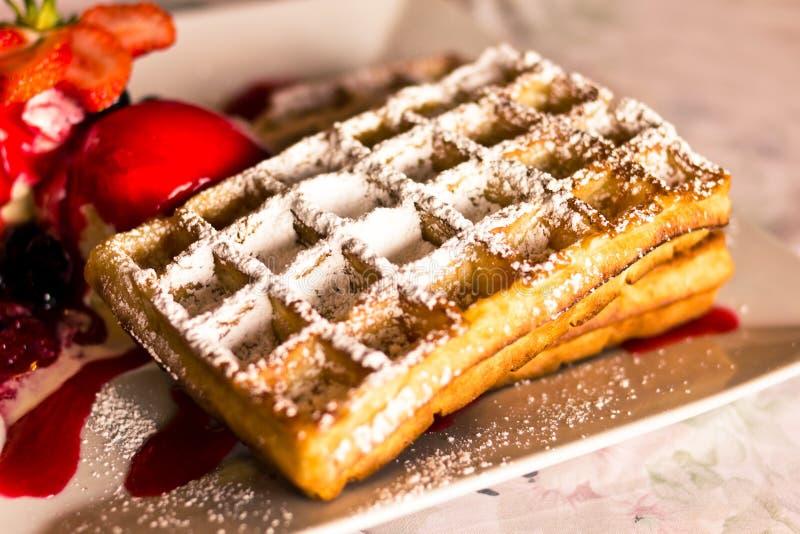 Waffle belga fotos de stock royalty free