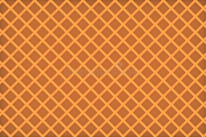 Waffle belga Teste padrão sem emenda dos waffles imagem de stock