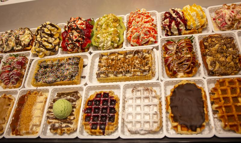 Waffle in Brussels ... best of. royalty free stock image