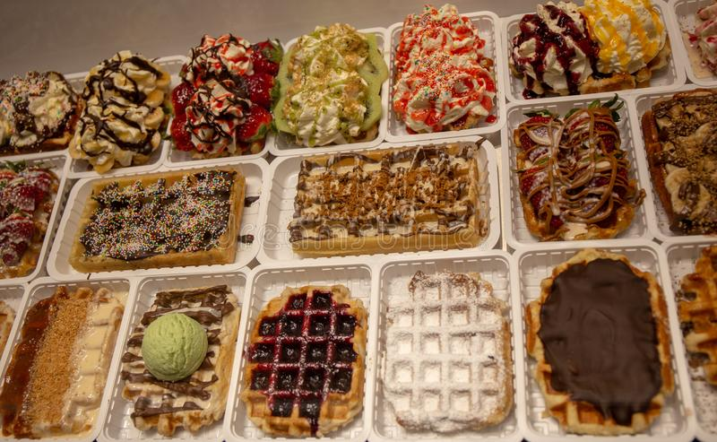 Waffle in Brussels ... best of. royalty free stock photo