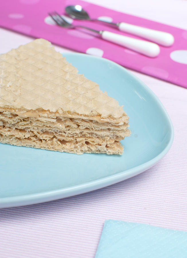 Download Waffle cake stock photo. Image of blue, cuisine, part - 24886522