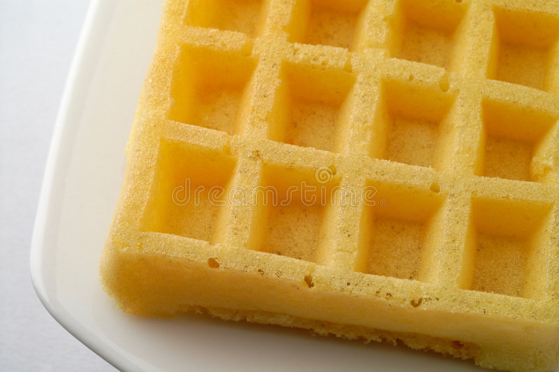 Download Waffle on a dish closeup stock photo. Image of sweet, isolated - 2081798