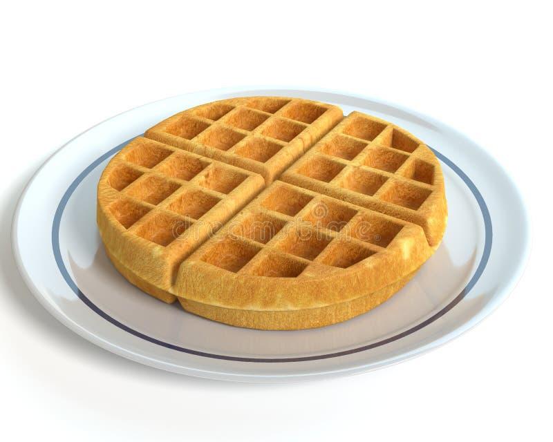 Waffle em uma placa ilustração royalty free