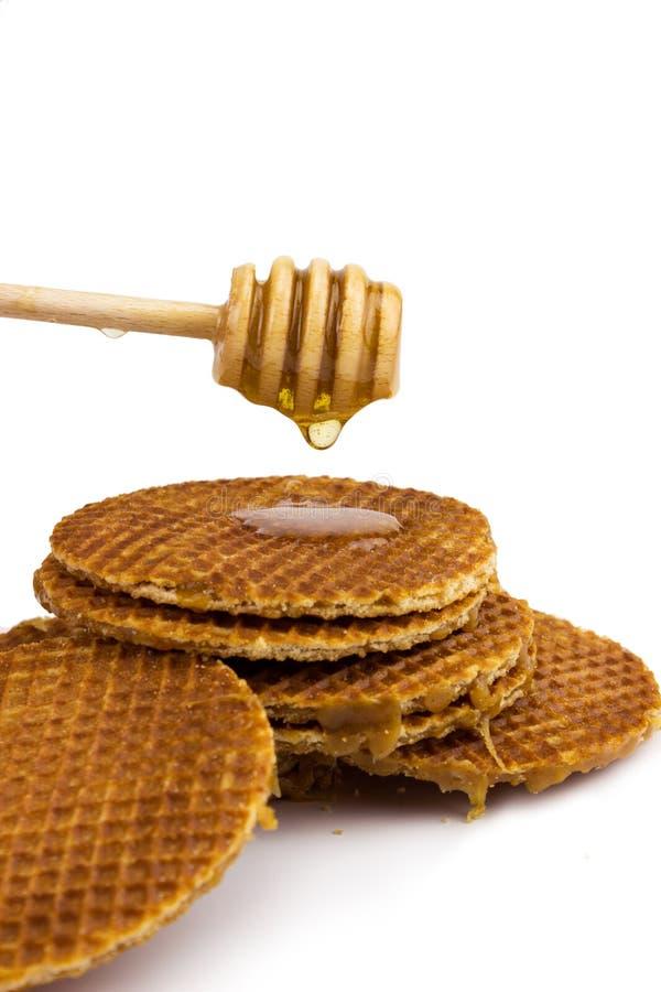 Waffle holandês do caramelo imagens de stock royalty free