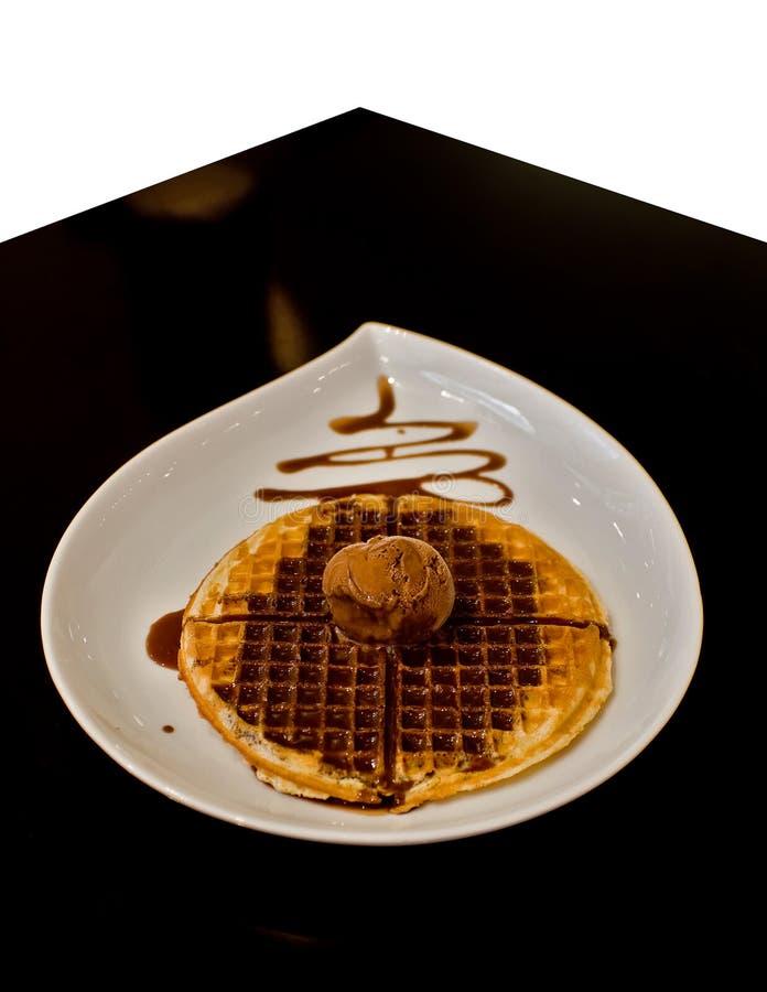 Waffle & icecream stock photo