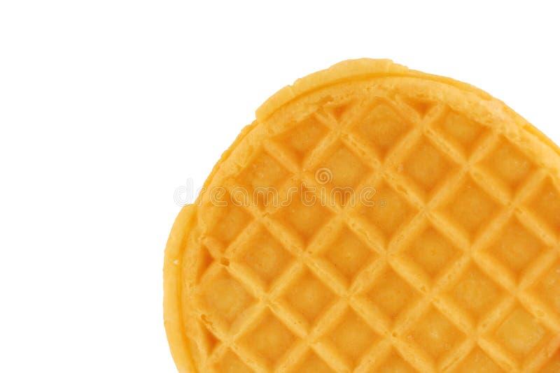 Waffle isolado do pequeno almoço fotografia de stock