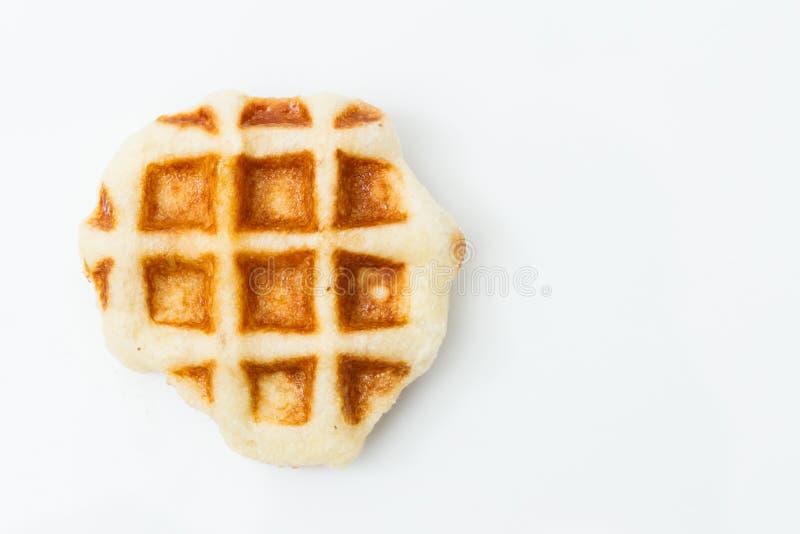 Waffle isolated on white background stock images