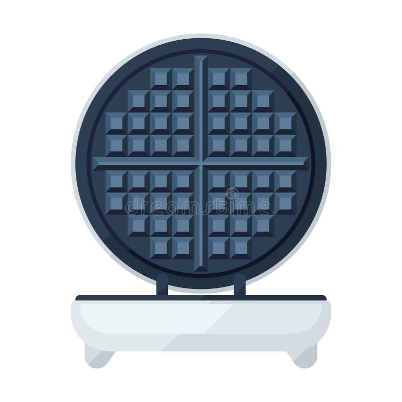 Waffle maker flat icon. Waffle maker of waffle iron flat icon royalty free illustration