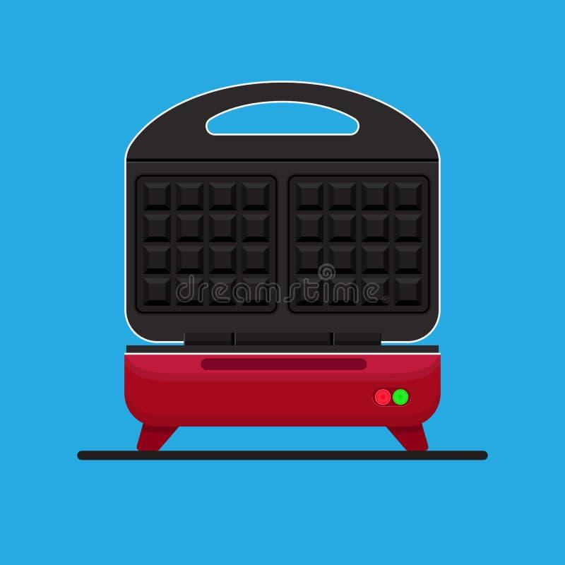 Waffle maker. Waffle maker vector flat design royalty free illustration