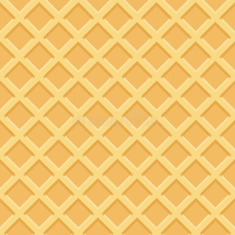 Waffle seamless pattern. Vector Illustration. Waffle seamless pattern, waffle or ice cream cone. Vector Illustration vector illustration