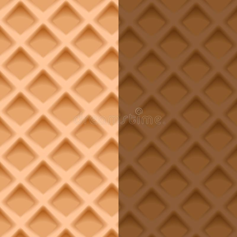 Waffle seamlwss pattern. The art of sweet delicious bakery theme looks yummy. vector illustration