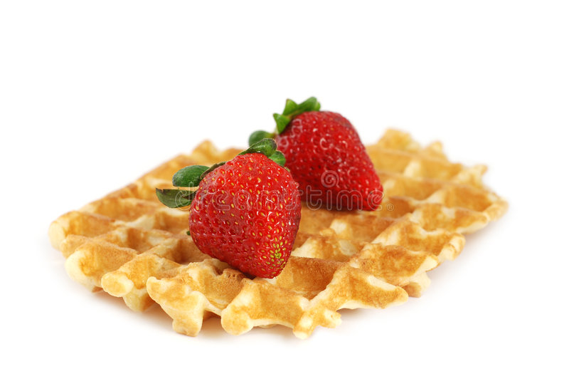 Waffle And Strawberries Stock Image
