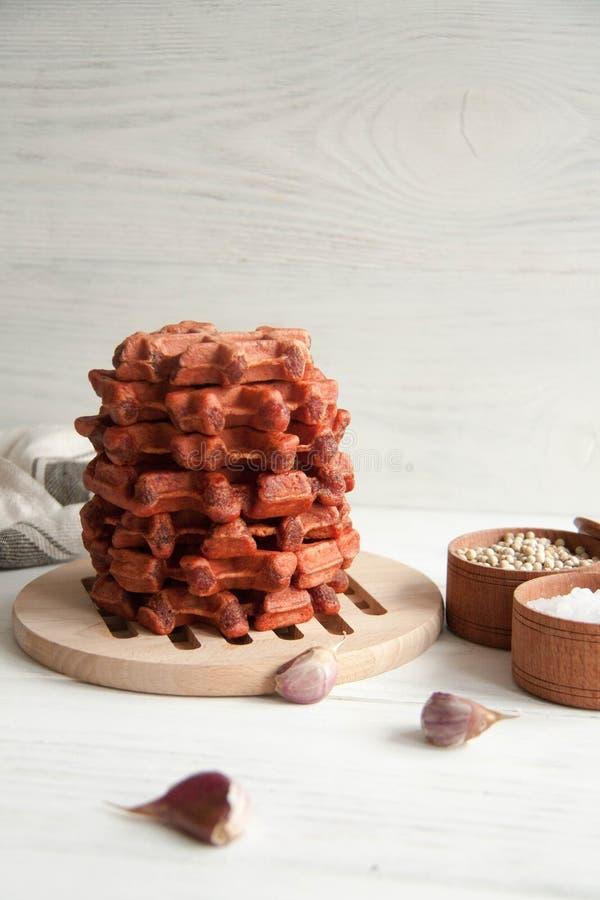 Waffles бураков стоковые фотографии rf